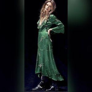Free People Romantics Green Shooting Star Dress